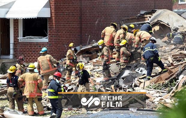 انفجار یک منزل مسکونی درآمریکا